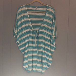GAP BODY STRIPED COVER UP SZ S